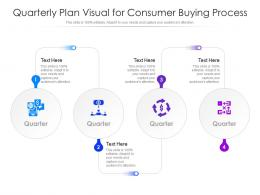Quarterly Plan Visual For Consumer Buying Process Infographic Template