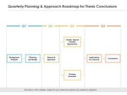 Quarterly Planning And Approach Roadmap For Thesis Conclusions