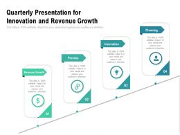 Quarterly Presentation For Innovation And Revenue Growth