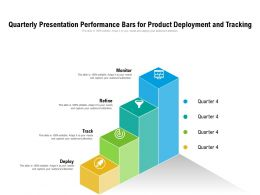 Quarterly Presentation Performance Bars For Product Deployment And Tracking