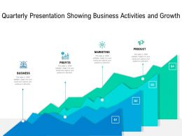 Quarterly Presentation Showing Business Activities And Growth