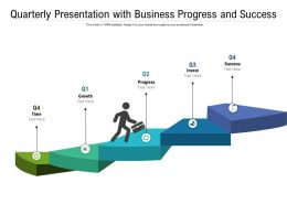 Quarterly Presentation With Business Progress And Success