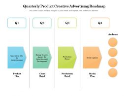 Quarterly Product Creative Advertising Roadmap