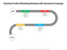 Quarterly Product Marketing Roadmap With Awareness Campaign