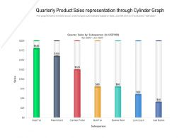 Quarterly Product Sales Representation Through Cylinder Graph