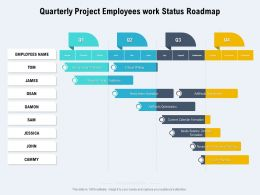 Quarterly Project Employees Work Status Roadmap