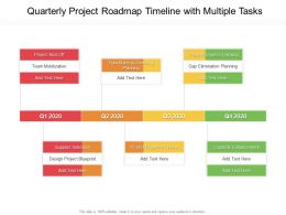 Quarterly Project Roadmap Timeline With Multiple Tasks