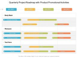 Quarterly Project Roadmap With Product Promotional Activities