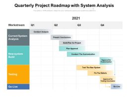 Quarterly Project Roadmap With System Analysis
