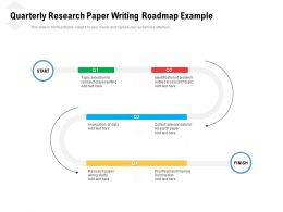 Quarterly Research Paper Writing Roadmap Example