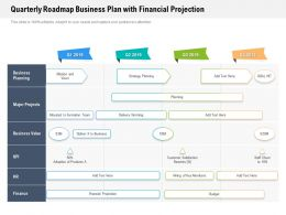 Quarterly Roadmap Business Plan With Financial Projection