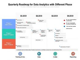 Quarterly Roadmap For Data Analytics With Different Phase
