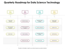 Quarterly Roadmap For Data Science Technology