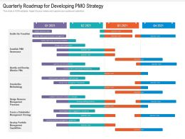 Quarterly Roadmap For Developing PMO Strategy