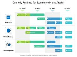 Quarterly Roadmap For Ecommerce Project Tracker