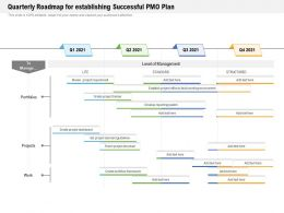 Quarterly Roadmap For Establishing Successful PMO Plan