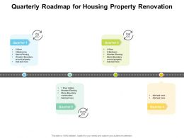 Quarterly Roadmap For Housing Property Renovation