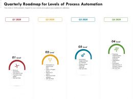 Quarterly Roadmap For Levels Of Process Automation