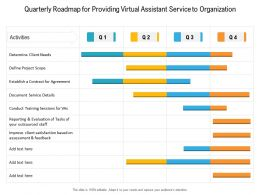 Quarterly Roadmap For Providing Virtual Assistant Service To Organization