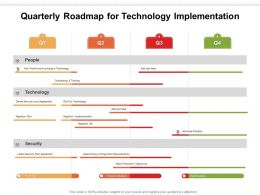 Quarterly Roadmap For Technology Implementation