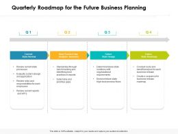Quarterly Roadmap For The Future Business Planning