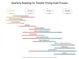 Quarterly Roadmap For Transfer Pricing Audit Process