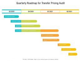 Quarterly Roadmap For Transfer Pricing Audit