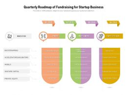 Quarterly Roadmap Of Fundraising For Startup Business