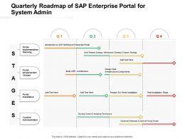 Quarterly Roadmap Of Sap Enterprise Portal For System Admin