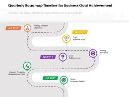 Quarterly Roadmap Timeline For Business Goal Achievement