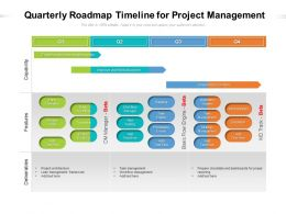 Quarterly Roadmap Timeline For Project Management