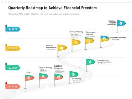 Quarterly Roadmap To Achieve Financial Freedom