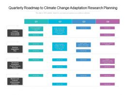 Quarterly Roadmap To Climate Change Adaptation Research Planning