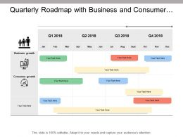Quarterly Roadmap With Business And Consumer Growth