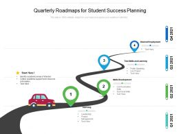 Quarterly Roadmaps For Student Success Planning