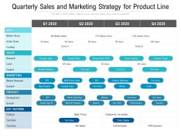 Quarterly Sales And Marketing Strategy For Product Line