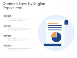 Quarterly Sales By Region Report Icon