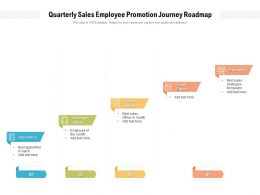 Quarterly Sales Employee Promotion Journey Roadmap