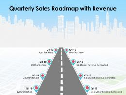 Quarterly Sales Roadmap With Revenue
