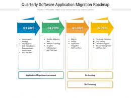 Quarterly Software Application Migration Roadmap