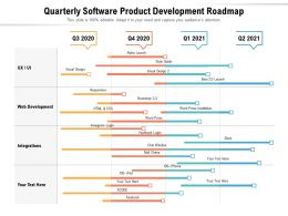 Quarterly Software Product Development Roadmap