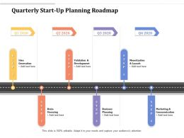 Quarterly Start Up Planning Roadmap