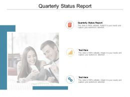 Quarterly Status Report Ppt Powerpoint Presentation Show Example Cpb