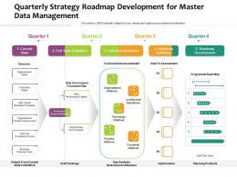 Quarterly Strategy Roadmap Development For Master Data Management