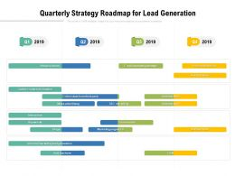 Quarterly Strategy Roadmap For Lead Generation