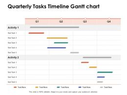 Quarterly Tasks Timeline Gantt Chart Ppt Powerpoint Presentation Model Pictures