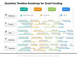 Quarterly Timeline Roadmap For Grant Funding