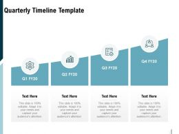 Quarterly Timeline Template Ppt Powerpoint Presentation Infographics Clipart