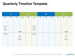 Quarterly Timeline Template Ppt Powerpoint Presentation Portfolio Grid