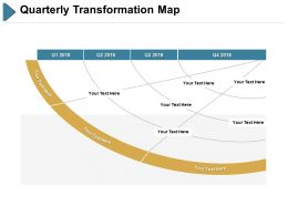 Quarterly Transformation Map Ppt Slides Portfolio